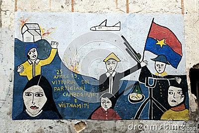 Orgosolo murales - Sardinia Editorial Photo