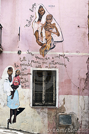 Orgosolo murals - Sardinia Editorial Photography