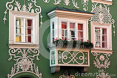 Oriel Window in Scharding, Austria