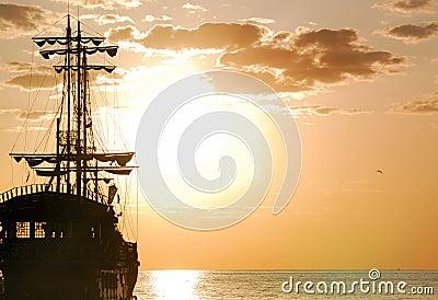 Orientación horizontal de la nave de piratas