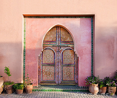 Oriental Arabic wall with doors