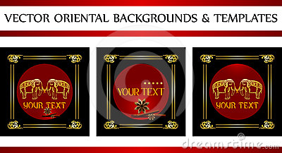 Oriental backgrounds and templates