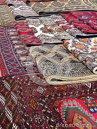 Oriental bazaar objects - bukhara rugs