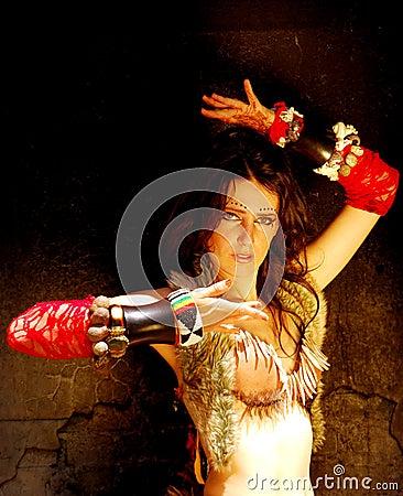Oriental belly dancer