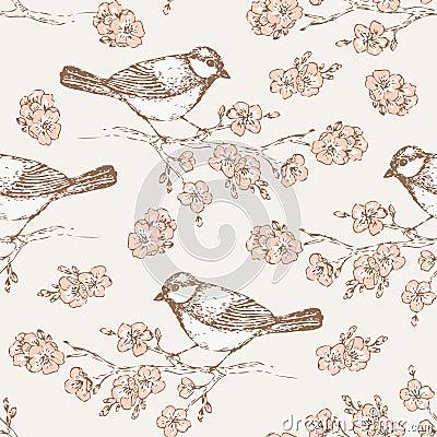 Oriental cherry pattern 4