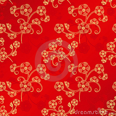 Free Oriental Chinese New Year Seamless Pattern Stock Photos - 22450793