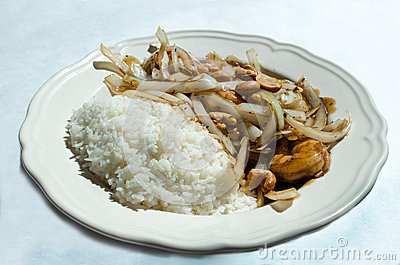 Oriental cuisine cashew shrimp