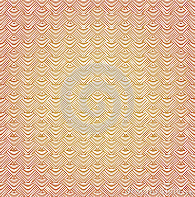 Oriental curve wave pattern background