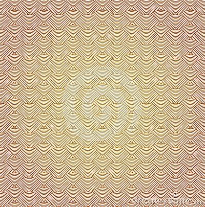 Oriental curve wave pattern background