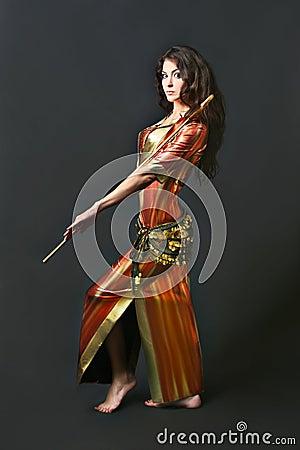 Oriental dancer cabaret woman