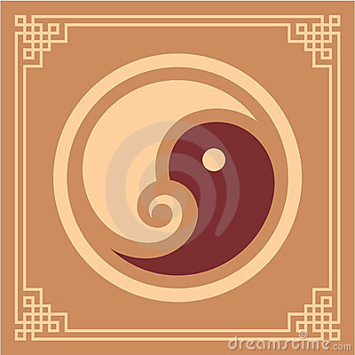 Oriental Design Element - Yin Yang Pattern
