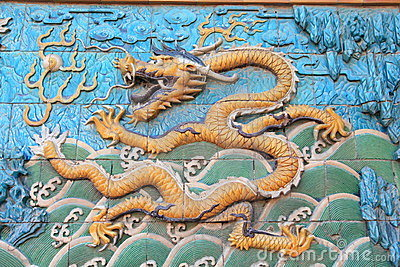 Oriental dragon of Beijing Forbidden City