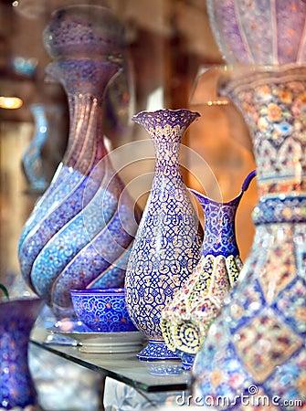 Free Oriental Embroidied Pots, Iran Royalty Free Stock Image - 25851726