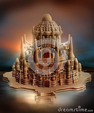 Oriental fantasy castle