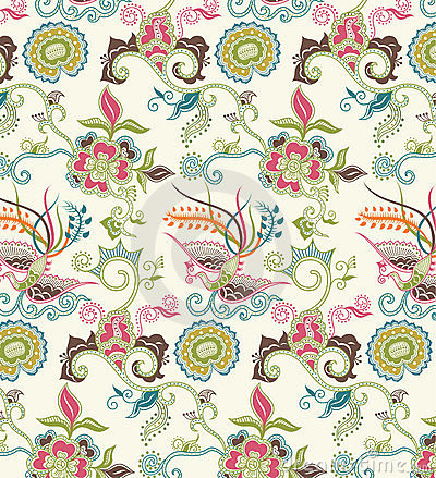 Oriental Floral and Bird Pattern 1