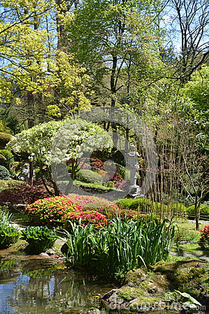 Free Oriental Gardens. Maulevriere, France Stock Photos - 70792833
