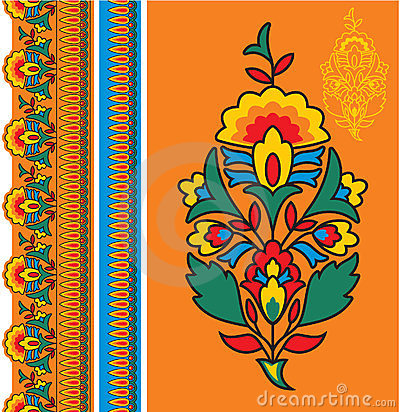 Oriental - Indian - Floral Design Elements