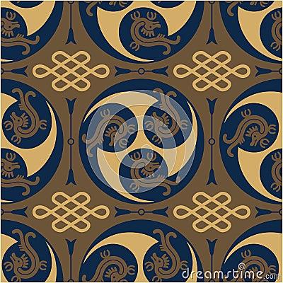 Oriental - Japanese - Authentic Seamless Pattern
