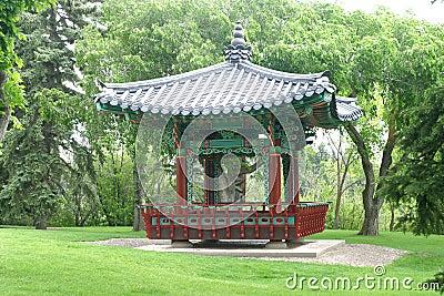 Oriental pagoda in park
