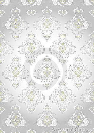 oriental pattern on a silver background wallpaper stock photos image 21027803. Black Bedroom Furniture Sets. Home Design Ideas