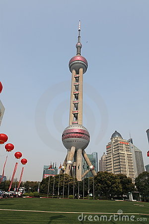 Oriental Pearl Tower Editorial Photo