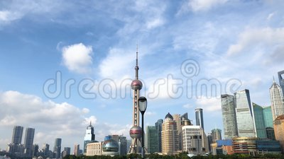 Oriental Pearl Tower i Centrum Finansowe w Pudong zbiory