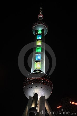 Oriental Pearl Tower at night Editorial Photography