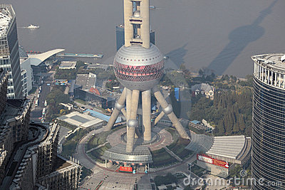 Oriental Pearl Tower in Shanghai Editorial Photo