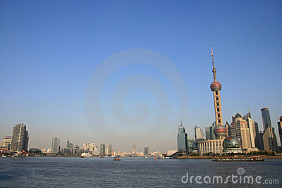 The Oriental Pearl TV Tower Of Shanghai Editorial Image