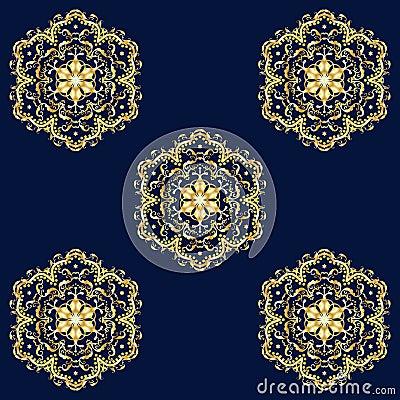 Free Oriental Seamless Pattern Royalty Free Stock Photography - 68647197