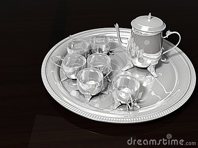 Oriental Silver Coffee Set