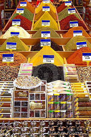 Oriental spices on the bazaar