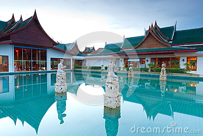 Oriental style architecture in Thailand