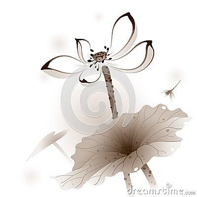 Oriental style Lotus