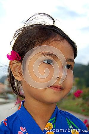 Oriental sweet little Girl