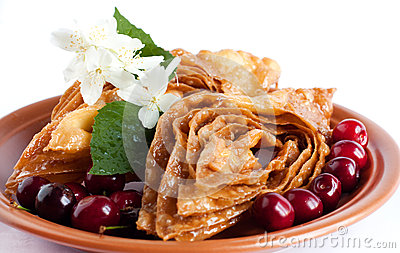 Oriental Sweets with cherries