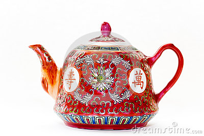 Oriental Tea Pot Isolated