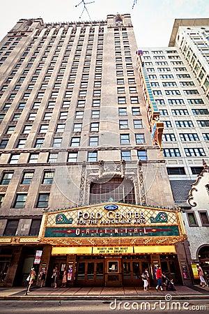 Oriental Theatre in Chicago Editorial Stock Photo
