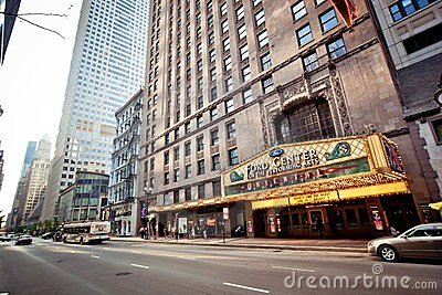 Oriental Theatre in Chicago Editorial Image
