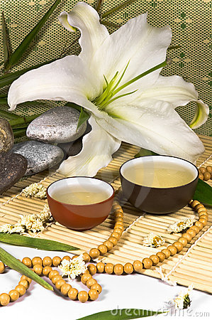 Free Oriental Traditional Tea Ceremony Still Life. Royalty Free Stock Photos - 12113408