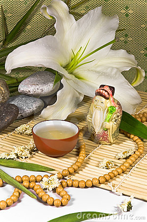 Free Oriental Traditional Tea Ceremony Still Life. Stock Images - 12113464