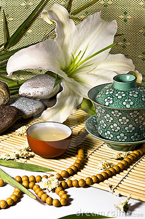 Free Oriental Traditional Tea Ceremony Still Life. Royalty Free Stock Photography - 12113507