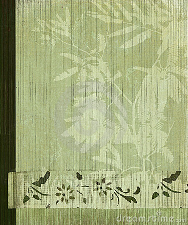 Oriental tree and bamboo flower banner background