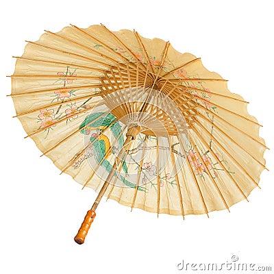 Free Oriental Umbrella Isolated Stock Image - 27415201