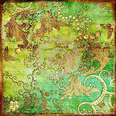 Oriental vintage paper