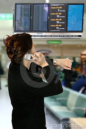 Oriental woman at airport