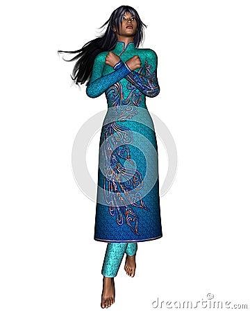 Oriental Woman - arms crossed