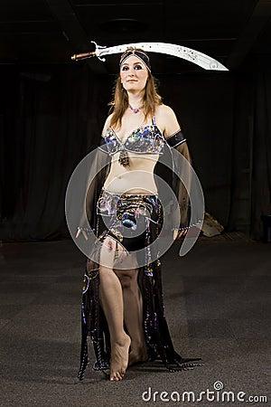 Oriental woman dancer