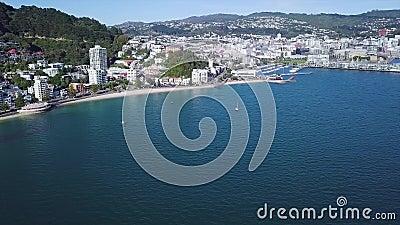 Orientalische Bucht-Wellington-Küstenlinie stock video footage