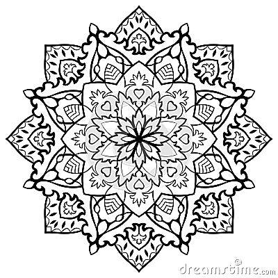 orientalische mit filigran geschm ckte mandala vektor abbildung bild 65345497. Black Bedroom Furniture Sets. Home Design Ideas